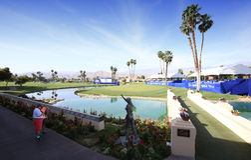 Campo de golf en el torneo 2015 del golf de la inspiración de la ANECDOTARIO Imagen de archivo libre de regalías