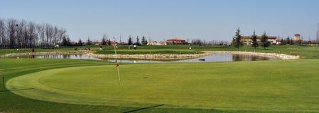 Campo de golf en Italia Foto de archivo libre de regalías