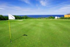 Campo de golf en la isla de Bornholms Fotos de archivo