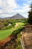Campo de golf en la isla de Isla Mauricio fotos de archivo libres de regalías