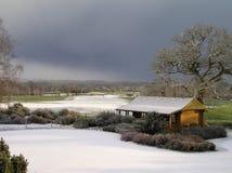 Campo de golf en la nieve Imagen de archivo