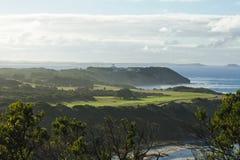Campo de golf en la playa Imagen de archivo libre de regalías