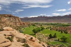 Campo de golf en Moab Utah Imagen de archivo libre de regalías