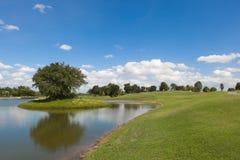 Campo de golf en Sunny Day Afternoon Imagen de archivo