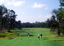 Campo de golf escénico imagen de archivo