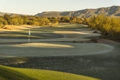 Campo de golf exclusivo del desierto de Arizona Foto de archivo libre de regalías