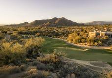 Campo de golf exclusivo del desierto de Arizona Foto de archivo