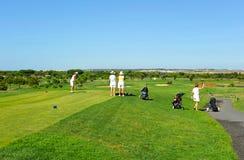 Campo de golf, grupo de mujeres, camiseta, Andalucía, España Fotografía de archivo