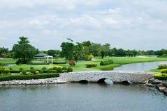 Campo de golf hermoso Fotografía de archivo
