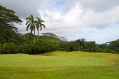 Campo de golf hermoso fotografía de archivo libre de regalías