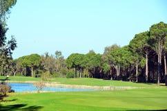 Campo de golf hermoso Imagen de archivo libre de regalías