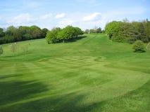 Campo de golf inglés Imagen de archivo libre de regalías