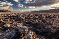 Campo de golf de los diablos en el parque nacional de Death Valley Fotografía de archivo