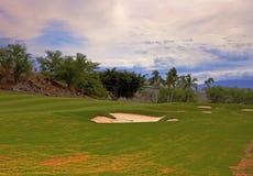 Campo de golf tropical Imágenes de archivo libres de regalías