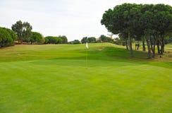 Campo de golf, verde, Andalucía, España Fotos de archivo libres de regalías