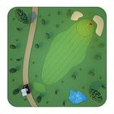 Campo de golf Visión superior representación 3d Fotografía de archivo libre de regalías
