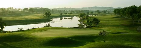 Campo de golfe Imagens de Stock