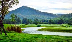 Campo de golfe Imagem de Stock
