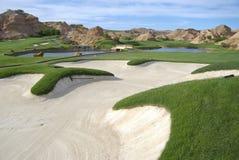 Campo de golfe bonito Imagens de Stock