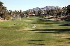 Campo de golfe bonito, Palm Spring, Califórnia, U Fotos de Stock Royalty Free
