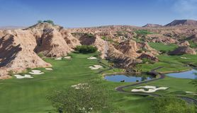 Campo de golfe da angra do lobo Fotografia de Stock Royalty Free