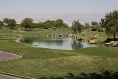 Campo de golfe da assinatura do jogador de Gary Fotos de Stock