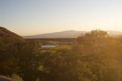 Campo de golfe de acima Fotografia de Stock