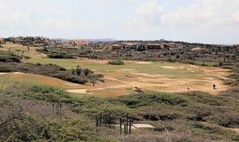 Campo de golfe de Aruba Imagens de Stock
