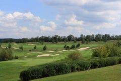 Campo de golfe de Karlstejn fotografia de stock