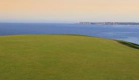 Campo de golfe de Pleneuf Val Andre, Bretagne, França Fotografia de Stock