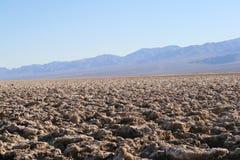 Campo de golfe do diabo, Death Valley, Califórnia imagem de stock royalty free