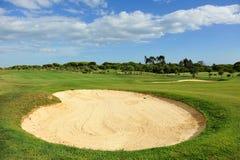 Campo de golfe do EL Rompido, a Andaluzia, Espanha fotografia de stock