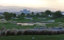 Campo de golfe do jogador de Gary Fotos de Stock