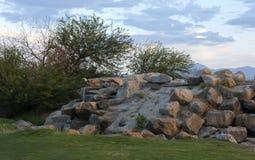 Campo de golfe do jogador de Gary Imagens de Stock