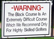 Campo de golfe do preto de Bethpage fotos de stock