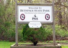 Campo de golfe do preto de Bethpage imagem de stock royalty free