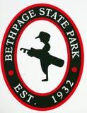 Campo de golfe do preto de Bethpage foto de stock