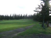 Campo de golfe em maui, Havaí fotos de stock royalty free