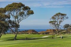 Campo de golfe em Torrey Pines La Jolla California EUA perto de San Diego Imagens de Stock Royalty Free