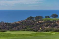 Campo de golfe em Torrey Pines La Jolla California EUA perto de San Diego Fotografia de Stock Royalty Free