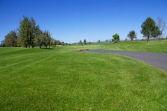 Campo de golfe, fairway verde Imagem de Stock Royalty Free
