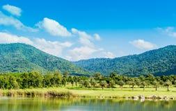 Campo de golfe ideal. Imagens de Stock