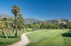 Campo de golfe, Marbella em Costa del Sol, Espanha Foto de Stock Royalty Free