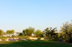 Campo de golfe no deserto do Arizona Foto de Stock