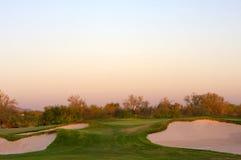 Campo de golfe no deserto do Arizona Imagens de Stock Royalty Free