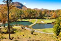 Campo de golfe nos caixas, North Carolina fotografia de stock royalty free