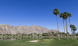 Campo de golfe ocidental de Pga, Palm Springs, Califórnia Foto de Stock