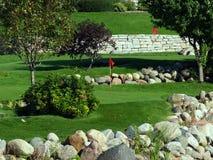 Campo de golfe pequeno 2 Imagem de Stock Royalty Free