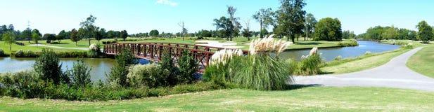 Campo de golfe pitoresco Imagens de Stock