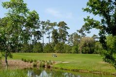 Campo de golfe pitoresco fotografia de stock royalty free